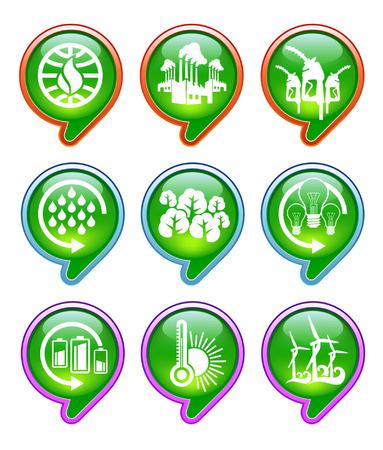 rains: global warming icons