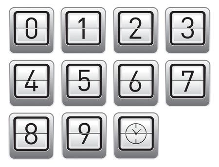 flip clock display Stock Vector - 2576384