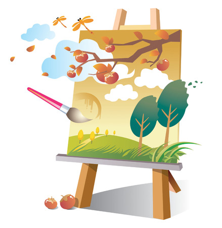painting your daydreams Vector