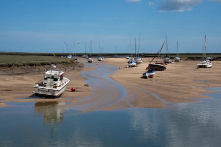 View of the estuary at low tide at Wells Next The Sea, Norfolk