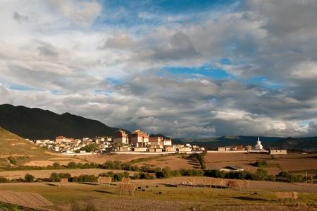 lamaism: Songzanlin Tibetan monastery in Shangri La, Yunnan Province, China. Stock Photo