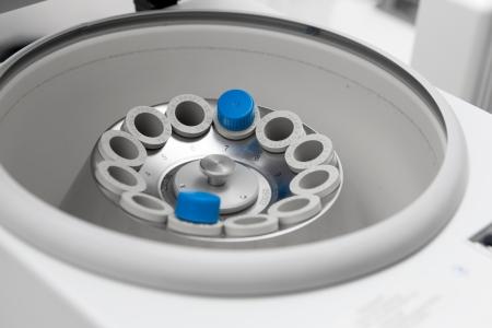 Vortex mixer in bio lab closeup under studio lights Standard-Bild