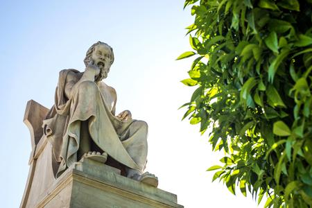 statue of ancient Greek philosopher Socrates in Athens Standard-Bild