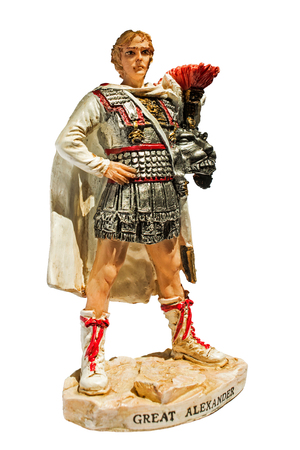 alexander the great: statue of Alexander the Great, isolated Stock Photo