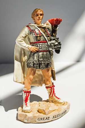 statue of Alexander the Great, isolated Banco de Imagens