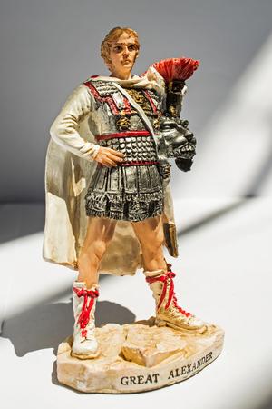 Statue von Alexander dem Großen, isoliert Standard-Bild - 60003808