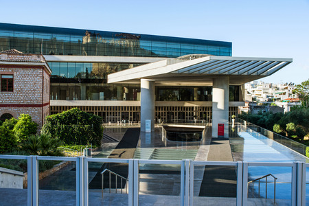 findings: ATHENS, GREECE - APRIL 26, 2016:Acropolis Museum in Athens Editorial