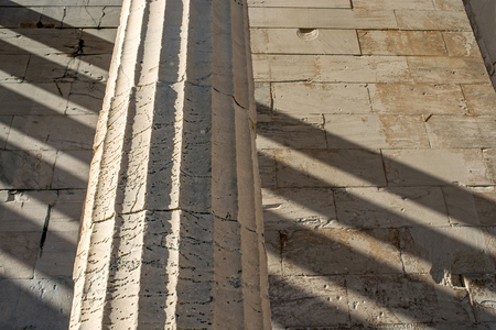 doric: Doric column details of the temple of Hephaestus in Ancient Agora, Athens, Greece