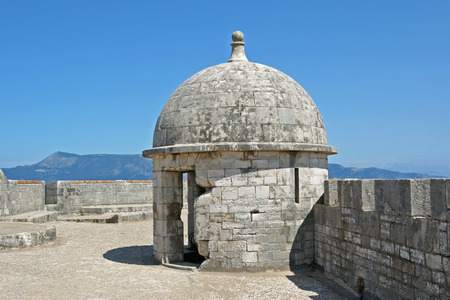 Embrasure inside the new fortress of Corfu, Greece