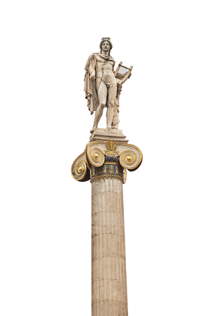 Statue of ancient god Apollo in Athens. Stock Photo