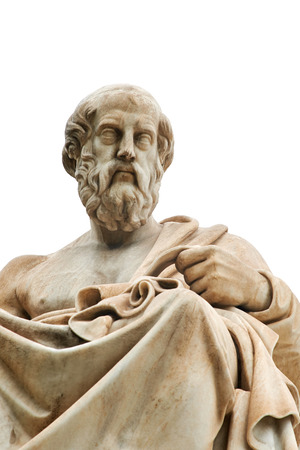 古代ギリシャの哲学者プラトンがアテネでの像。