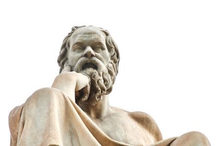 Statua del filosofo greco antico Socrate a Atene.