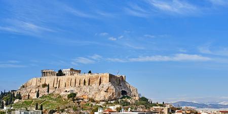 view of Parthenonas in Akropolis, Athens,Greece