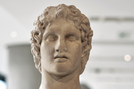 Portrait statue of Alexander the great.