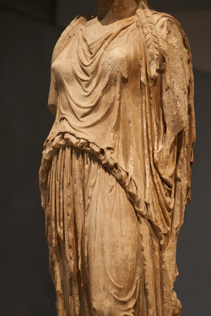 Statue of Caryatides in Athens. Stock Photo
