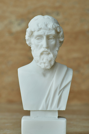 Statue of ancient Greek philosopher Plato.