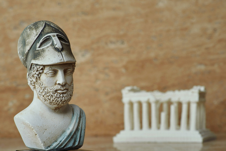 statesman: Statue of ancient Athens statesman Pericles.