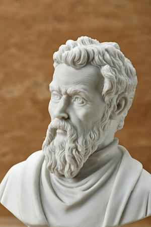 Statue of Michelangelo,ancient Italian creative artist. Stock Photo