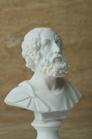 Statue of Homer,ancient greek poet. Stock Photo