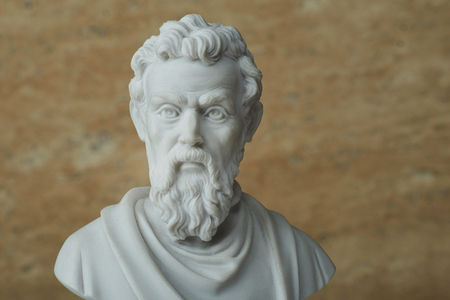 Statue of Michelangelo,ancient Italian creative artist. 版權商用圖片