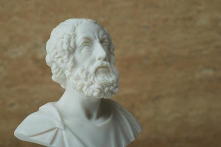 古代ギリシャの詩人ホメロスの像。 写真素材