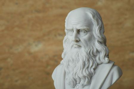 Statue of Leonardo Da Vinci,ancient Italian creative artist. Stock Photo