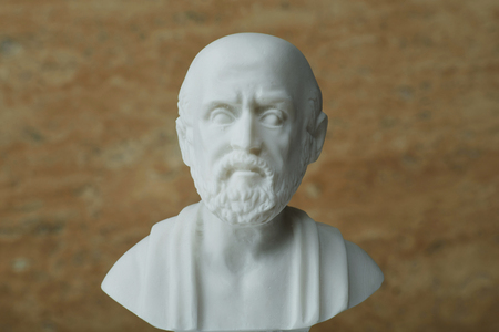 hippocratic: Statue of Hippocrates,ancient greek physician. Editorial