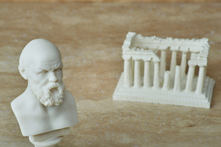philosophic: Statue of Socrates,ancient greek philosopher.