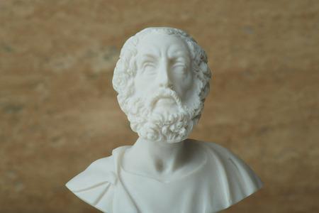 homer: Statue of Homer,ancient greek poet. Stock Photo