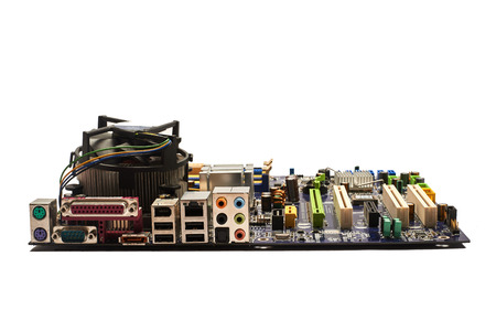 Computer motherboard, isolated.
