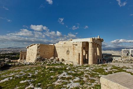The Temple of Erectheion, Acropolis, Athens.