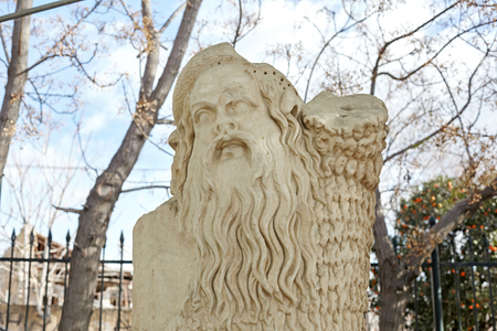 Statue of Papposelenos from the Roman stage of the Theatre of Dionysos. Reklamní fotografie