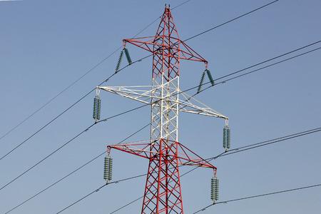 Electricity post energy tower. Stock fotó