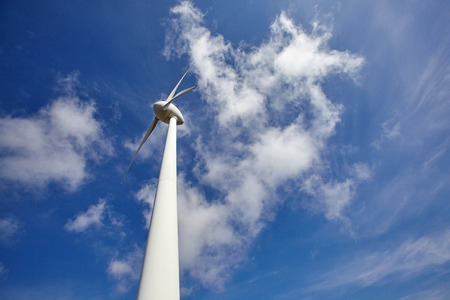 Wind turbine for electric power production.Ecological alternative energy. Standard-Bild - 124892052
