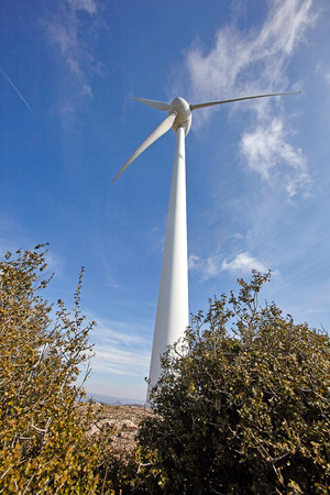 Wind turbine for electric power production.Ecological alternative energy.