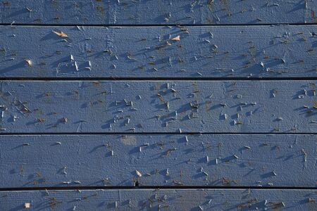 Closeup view of blue wooden wall as background.