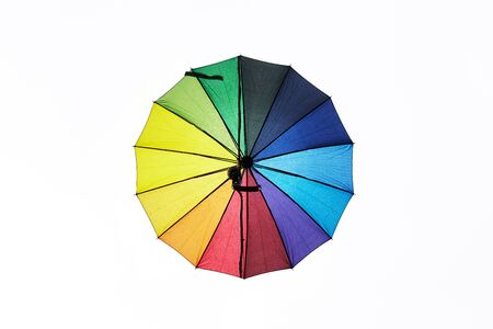 multicolored umbrella decoration on white background. Reklamní fotografie