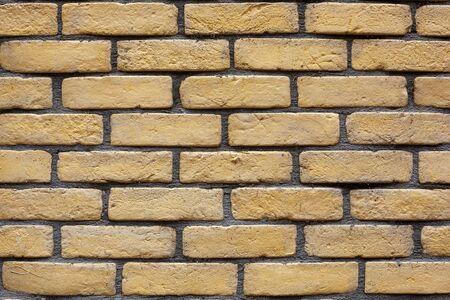 yellow brick wall as background.
