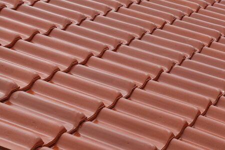 red roof tiles. Standard-Bild