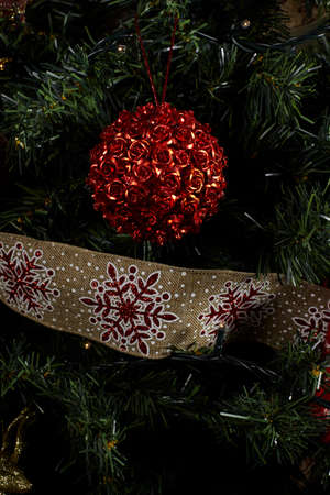 Christmas   ornament on lights background.