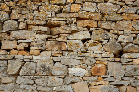 wall of rocks as background. Standard-Bild - 161618476