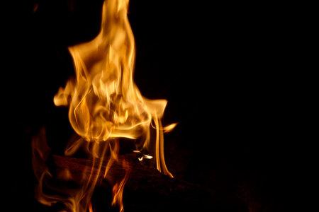 big fire in a fireplace. Standard-Bild - 161619221