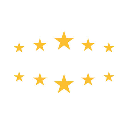 Five stars rating icon. Isolated flat vector sign symbol. 向量圖像