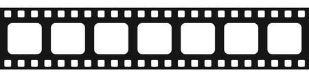Film strip on white background. Vector isolated icon. Movie and cinema strip.