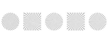 Sunburst pattern background. Sunrays vector set. Rays striped collection.