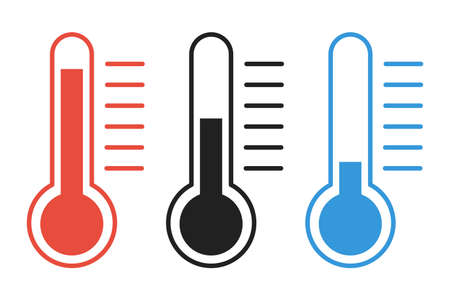 Thermometer vector isolated icon. Temperature symbol flat illustration.