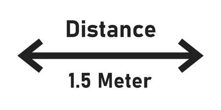 Social distance. Keep distance isolated icon. Vector distancing sign symbol. Vecteurs