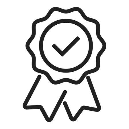 Warranty certificate badge. Vector isolated approve icon. EPS 10.