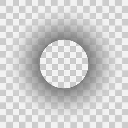 Realistic transparent circle shadow. Shadow label template effect. EPS 10.