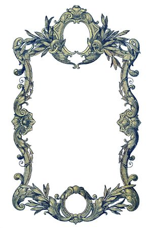 Old Frame on a white background